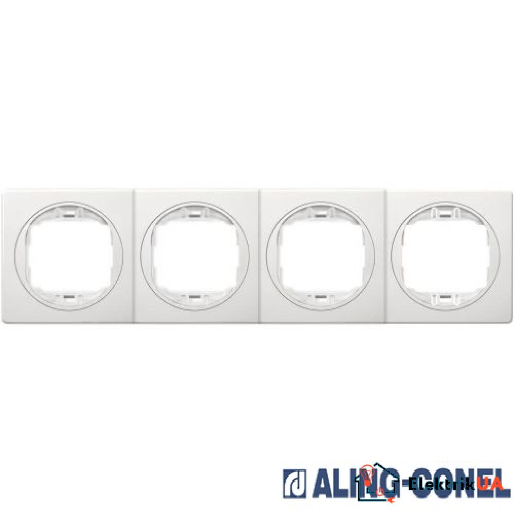 Рамка 4-а горизонт., Aling-Conel EON (білий-білий)