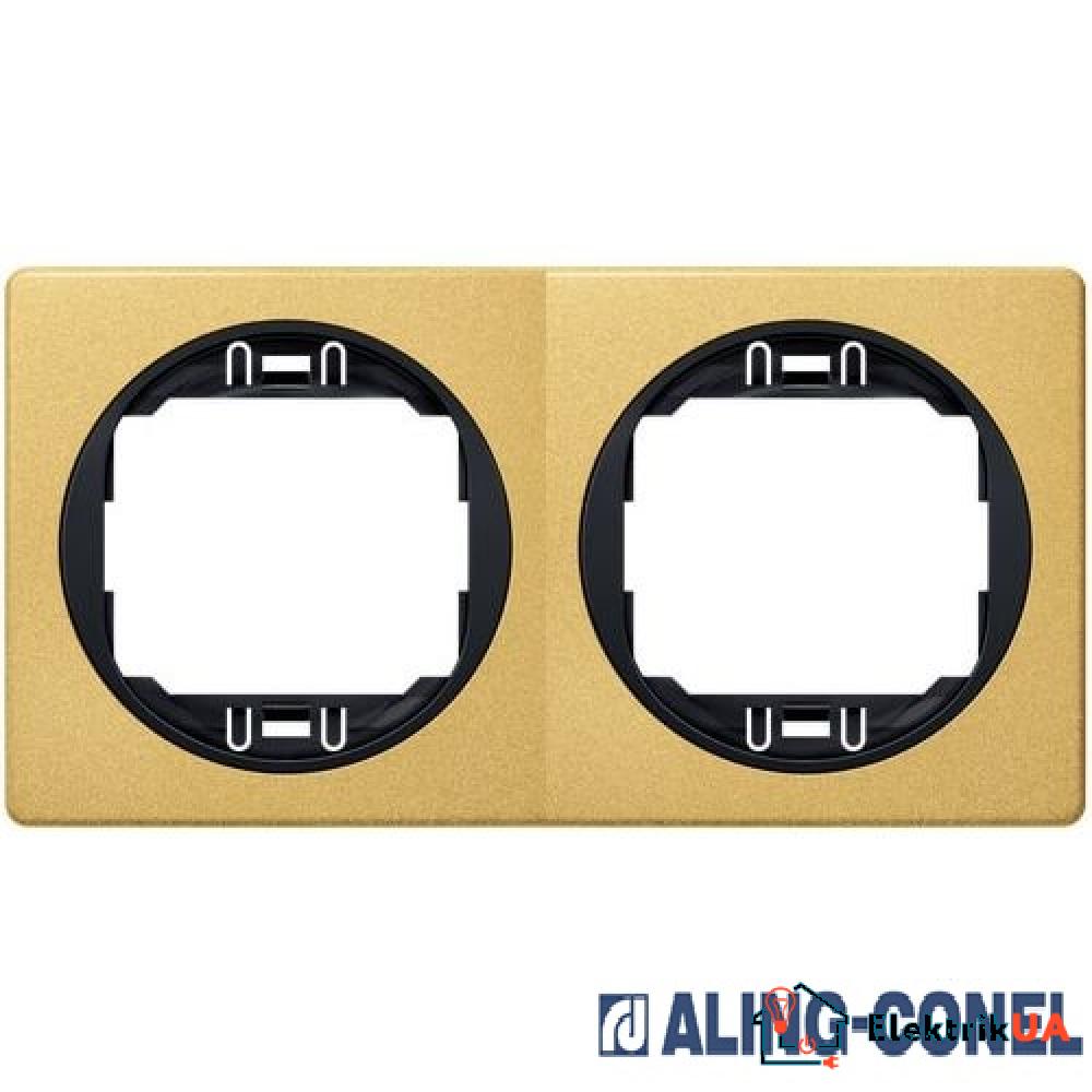 Рамка 2-а горизонт., Aling-Conel EON (золотий-чорний)