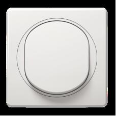 Комплект: мех.вимикач 1-кл, білий + рамка біло-біла 80*80, Aling-Conel EON E605.00