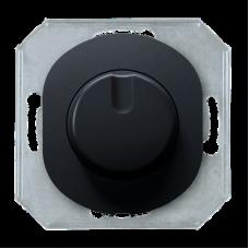 Механізм світлорегулятор з 1-пол.вимик. 200Вт, Aling-Conel EON E6173.E, чорний глянець