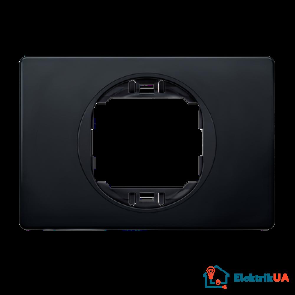 Рамка 1-а горизонт. 80*120, Aling-Conel EON (чорний-чорний)