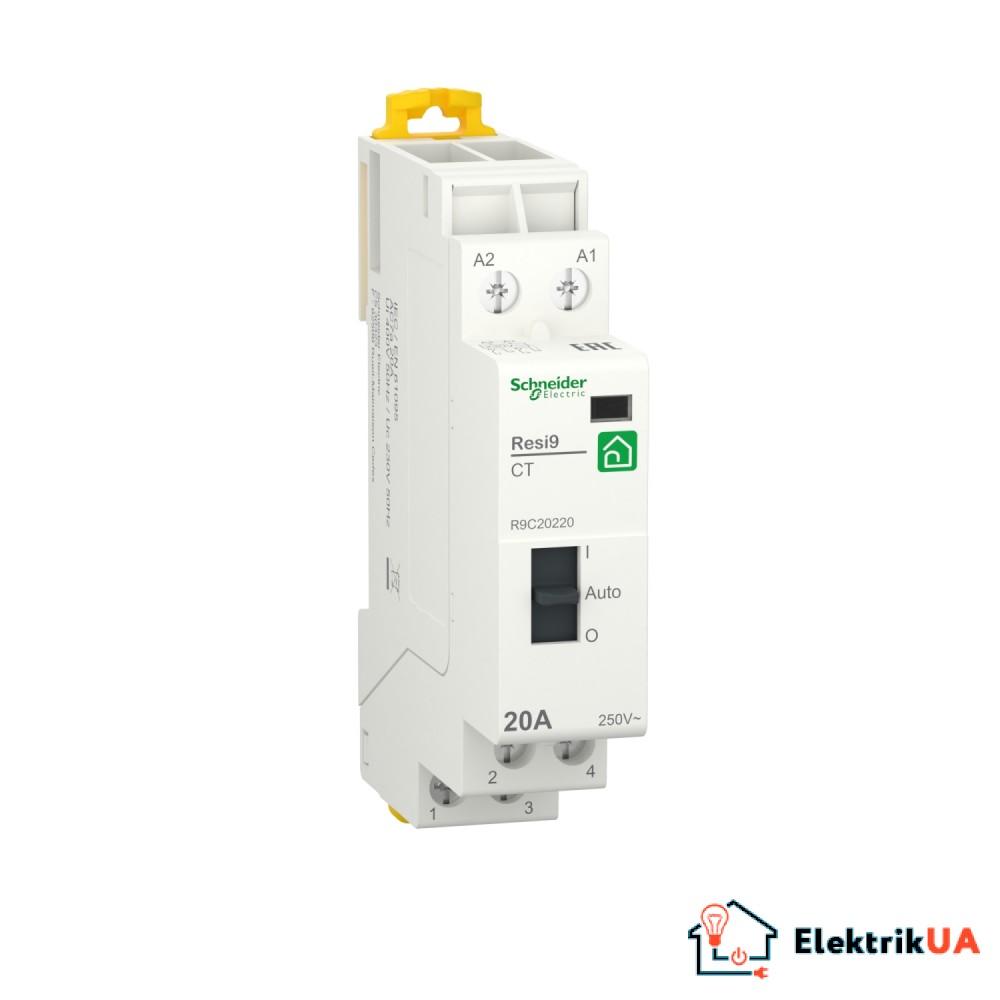 Контактор RESI9 Schneider Electric 20 A, 1P+N, 2NO ~230В/50Гц
