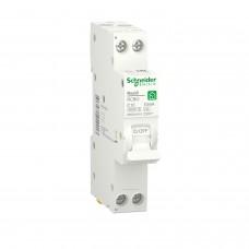 Компактний диференційний автоматичний вимикач RESI9 Schneider Electric 10 А, 10 мA, 1P+N, 6кA, крива С, тип А