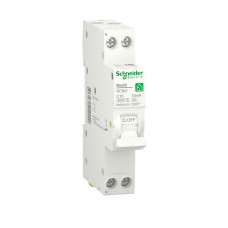 Компактний диференційний автоматичний вимикач RESI9 Schneider Electric 16 А, 10 мA, 1P+N, 6кA, крива С, тип А