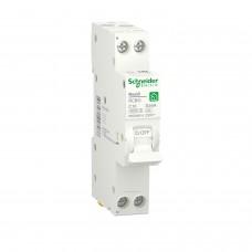 Компактний диференційний автоматичний вимикач RESI9 Schneider Electric 16 А, 30 мA, 1P+N, 6кA, крива С, тип А