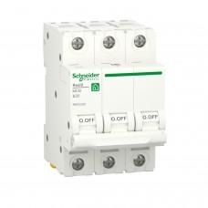 Автоматичний вимикач RESI9 Schneider Electric 20 А, 3P, крива В, 6кА