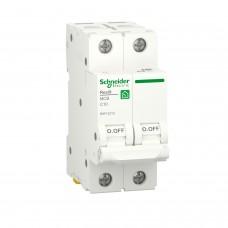 Автоматичний вимикач RESI9 Schneider Electric 10 А, 2P, крива С, 6кА