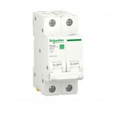 Автоматичний вимикач RESI9 Schneider Electric 25 А, 2P, крива С, 6кА