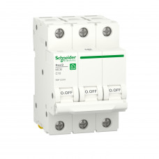 Автоматичний вимикач RESI9 Schneider Electric 10 А, 3P, крива С, 6кА