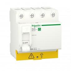 Диференційний вимикач навантаження RESI9 Schneider Electric 25 A, 30 мA, 4P, тип АС