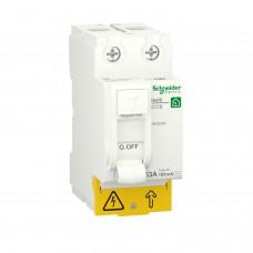 Диференційний вимикач навантаження RESI9 Schneider Electric 63 A, 100 мA, 2P, тип АС