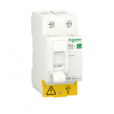 Диференційний вимикач навантаження RESI9 Schneider Electric 63 A, 300 мA, 2P, тип АС