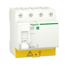 Диференційний вимикач навантаження RESI9 Schneider Electric 63 A, 30 мA, 4P, тип А