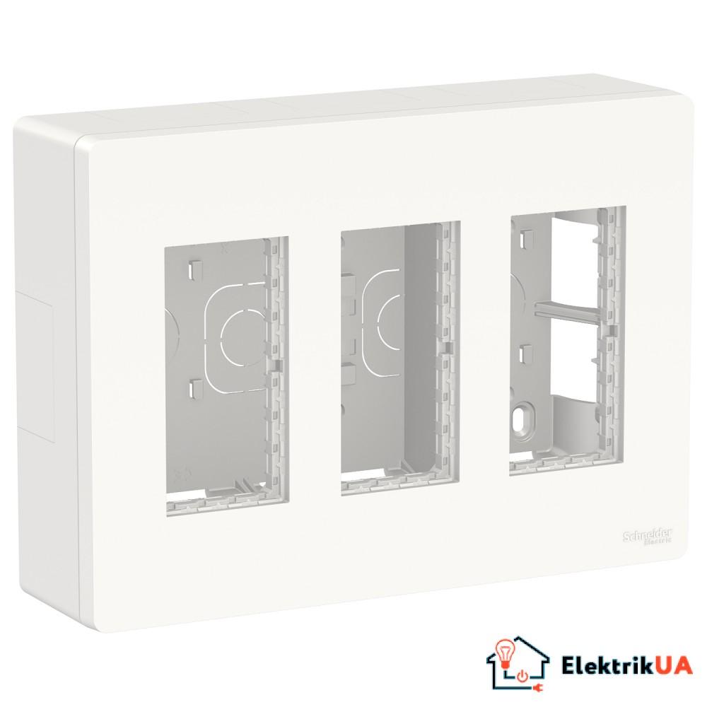 Блок unica system+ відкртита вставка 3х2 білий