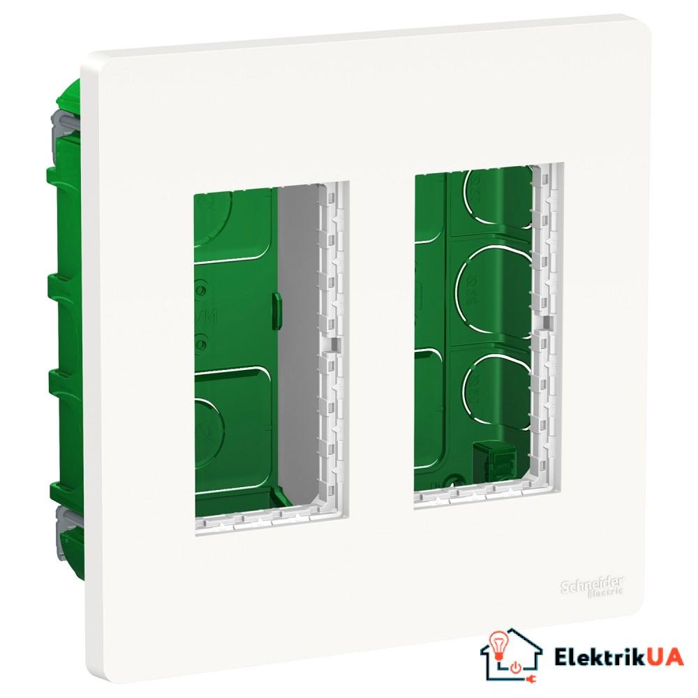 Блок unica system+ прихована вставка 2х2 білий