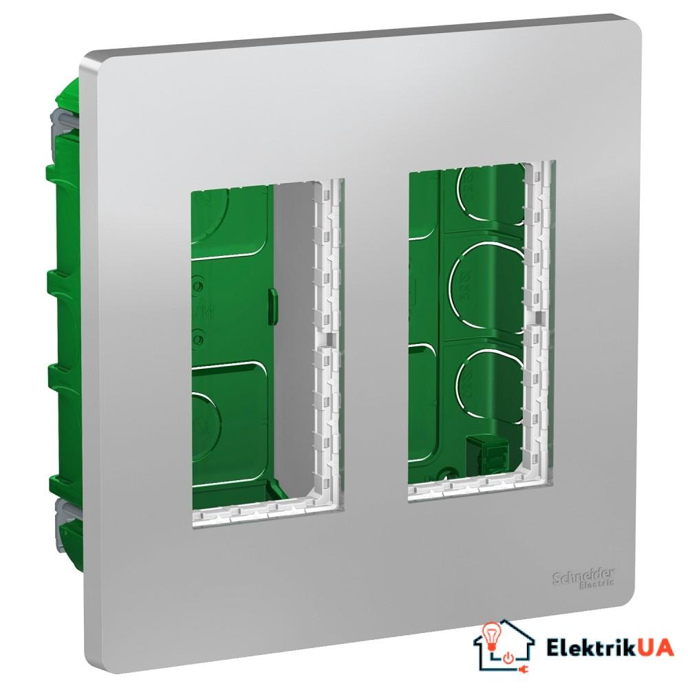 Блок unica system+ прихована вставка 2х2 алюміній