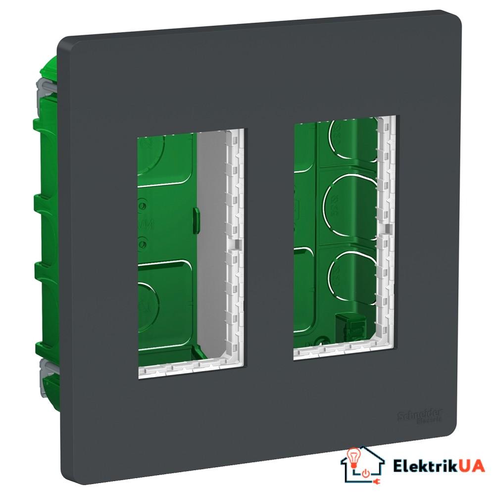 Блок unica system+ прихована вставка 2х2 антрацит