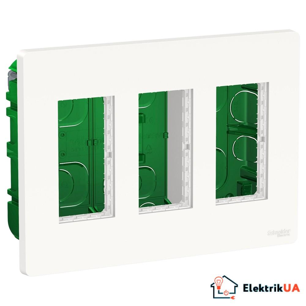Блок unica system+ прихована вставка 3х2 білий