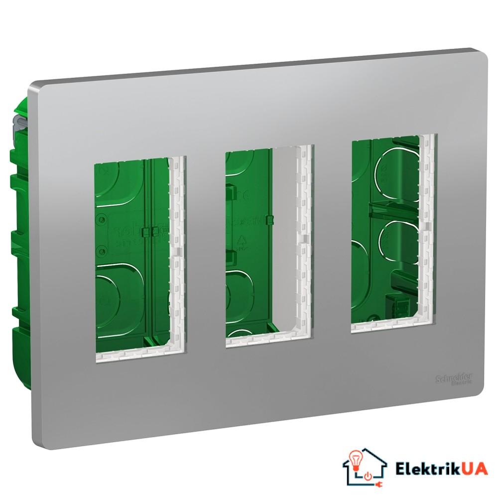 Блок unica system+ прихована вставка 3х2 алюміній