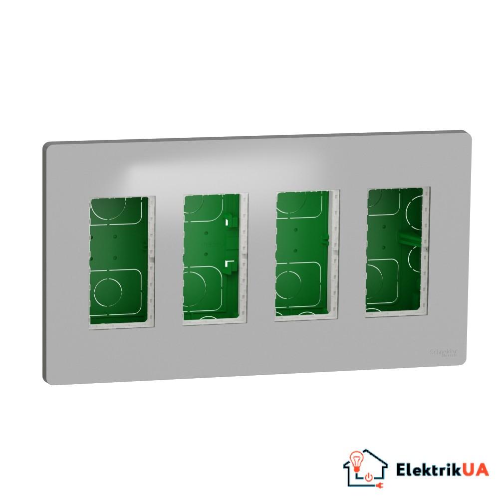 Блок unica system+ прихована вставка 4х2 алюміній
