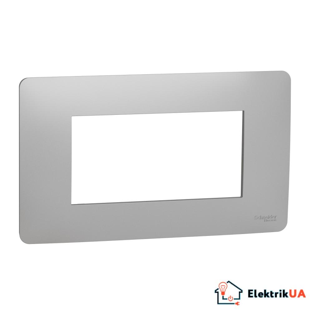 Рамка 4-модульна, алюміній