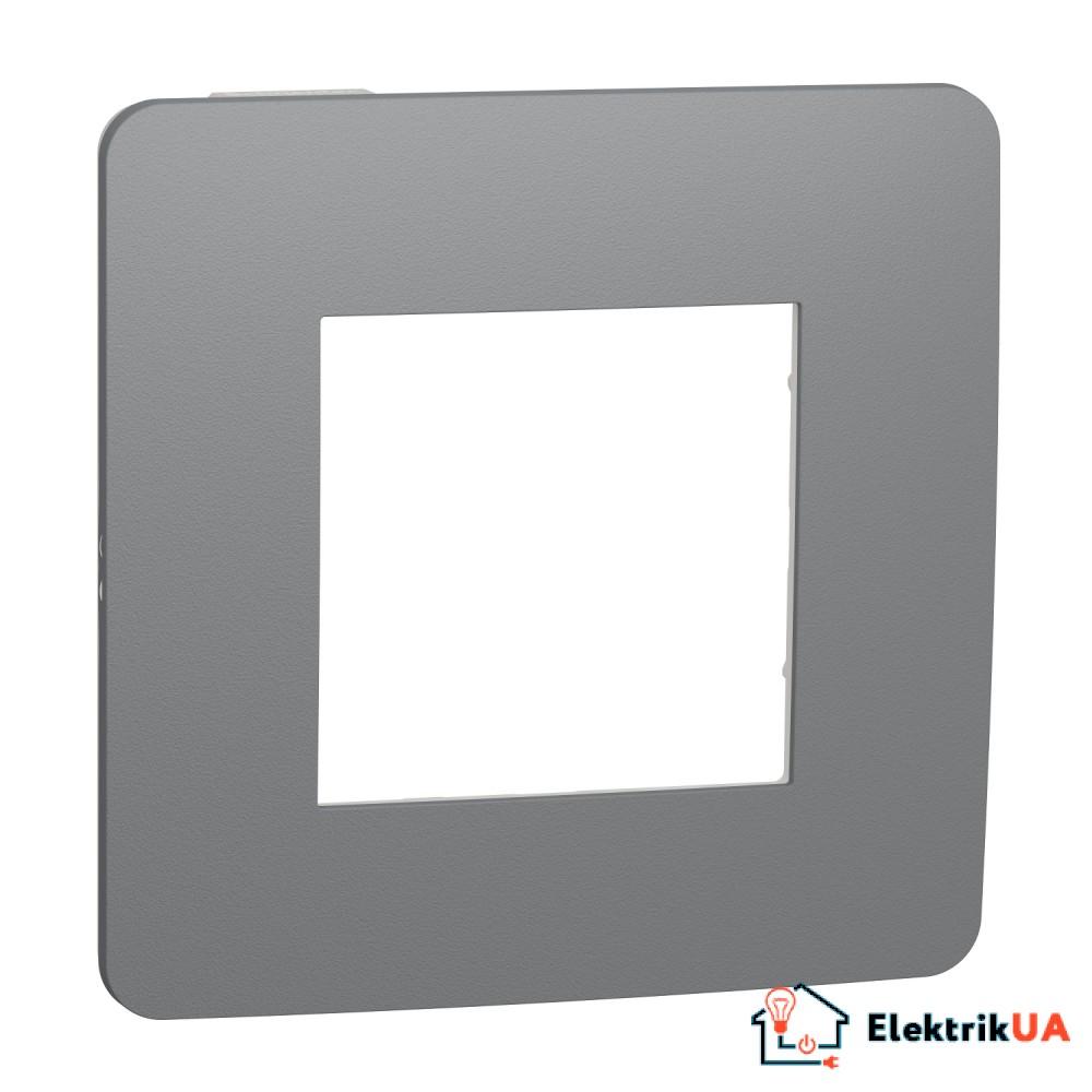 Рамка 1-постова, Димчато-сірий/білий