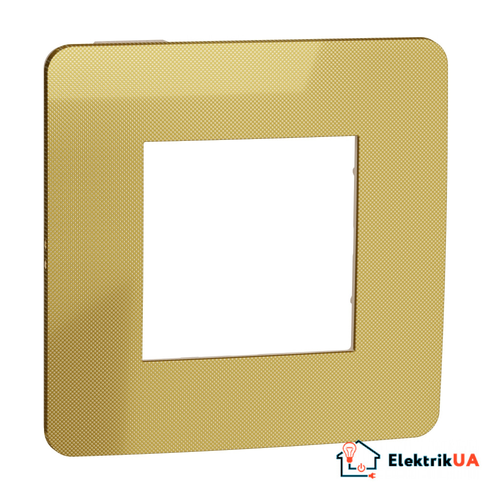 Рамка 1-постова, Золото/бежевий