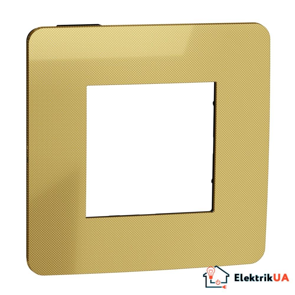 Рамка 1-постова, Золото/антрацит