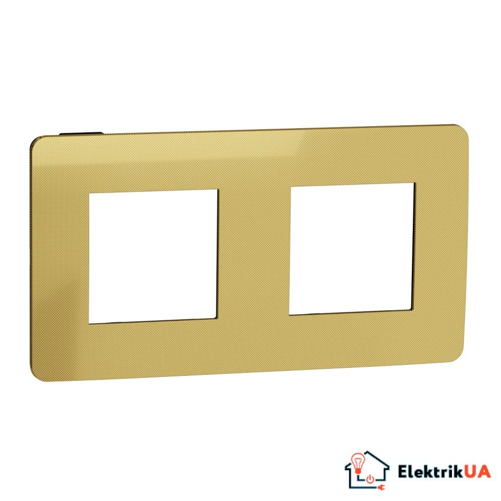 Рамка 2-постова, Золото/антрацит