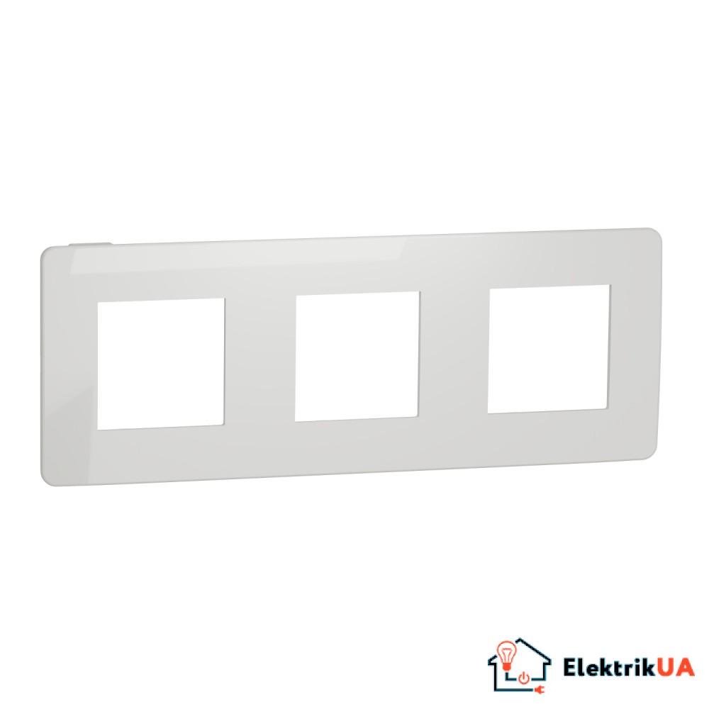 Рамка 3-постова, Білий/білий