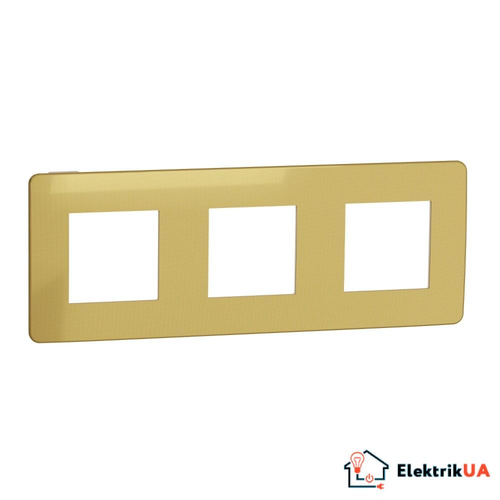 Рамка 3-постова, Золото/беж