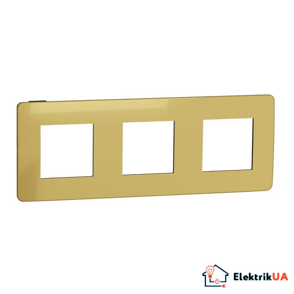 Рамка 3-постова, Золото/антрацит