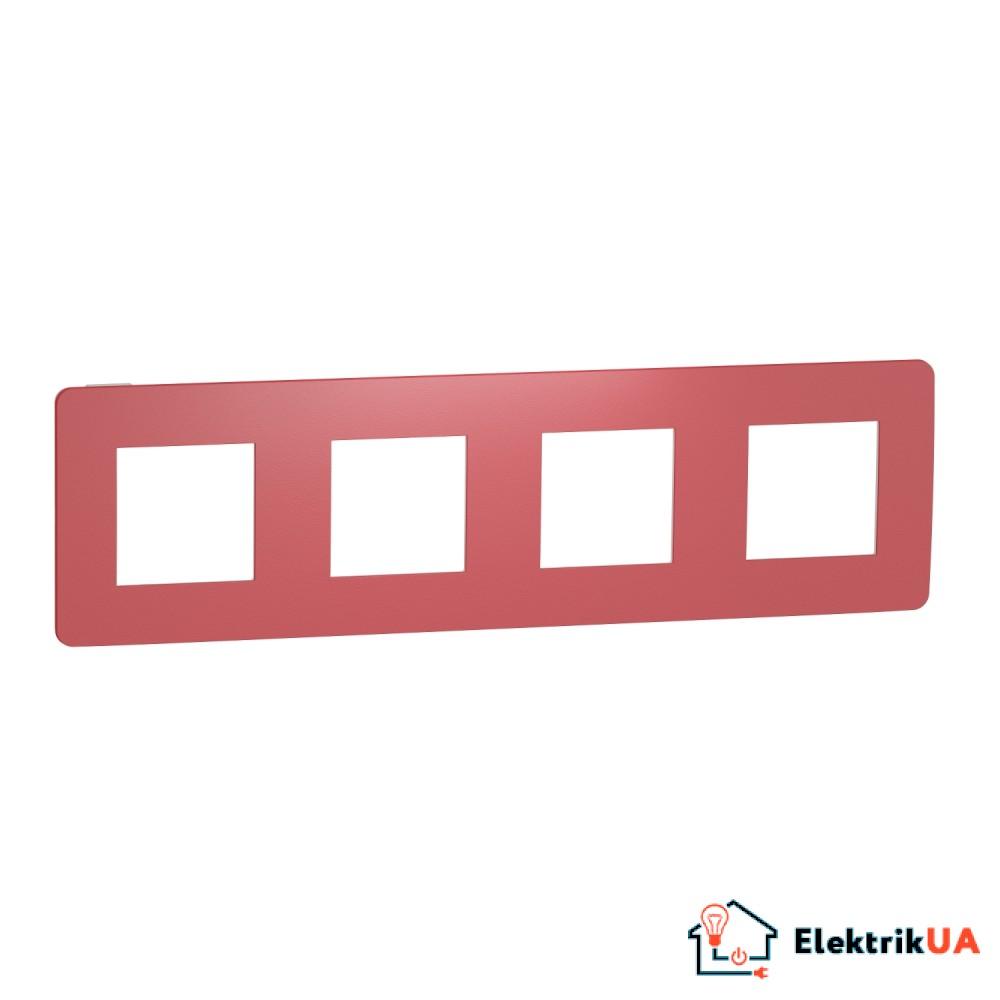 Рамка 4-постова, Червоний/білий