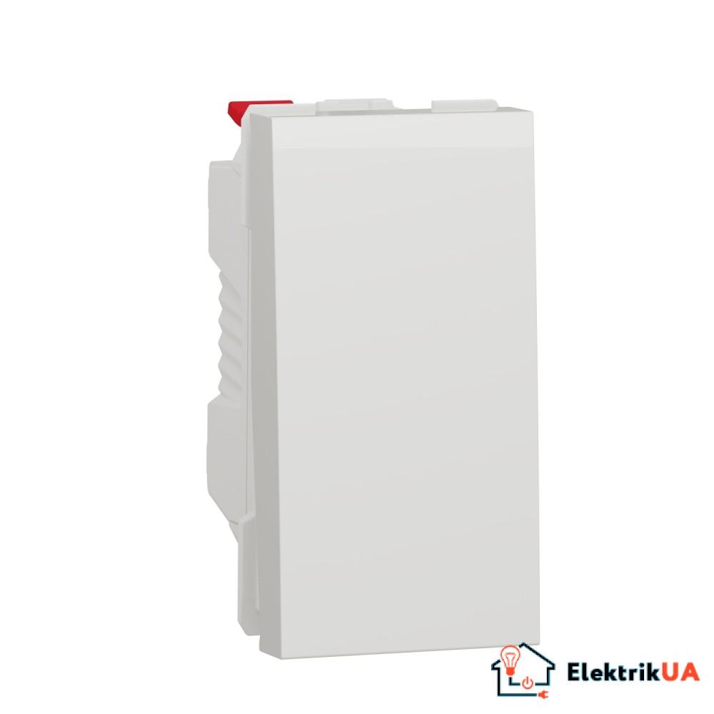 Вимикач 1-клавішний схема 1, 10А, 1 модуль білий
