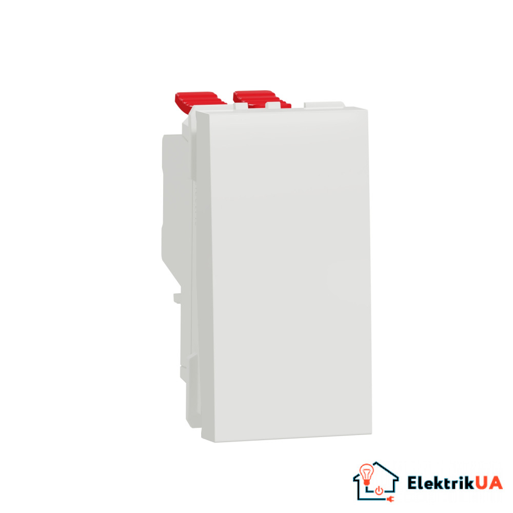 Перемикач 1-клавішний перехресний схема 7, 10А, 1 модуль білий