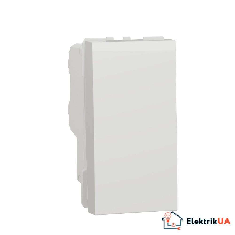 Двополюсний вимикач 16А 1 модуль білий