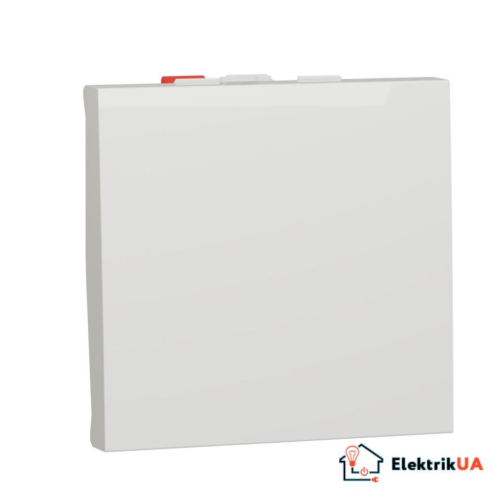 Перемикач 1-клавішний схема 6, 10А, 2 модулі білий