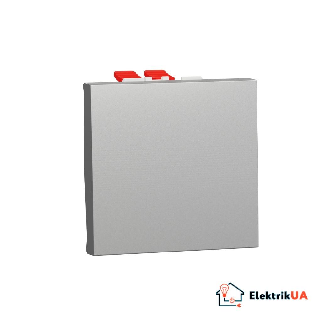 Перемикач 1-клавішний перехресний схема 7, 10А, 2 модулі алюміній
