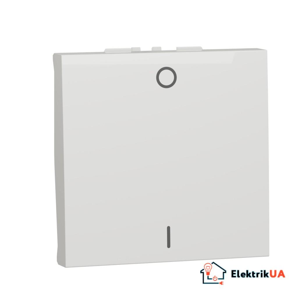 Двополюсний вимикач 16А 2 модуль білий