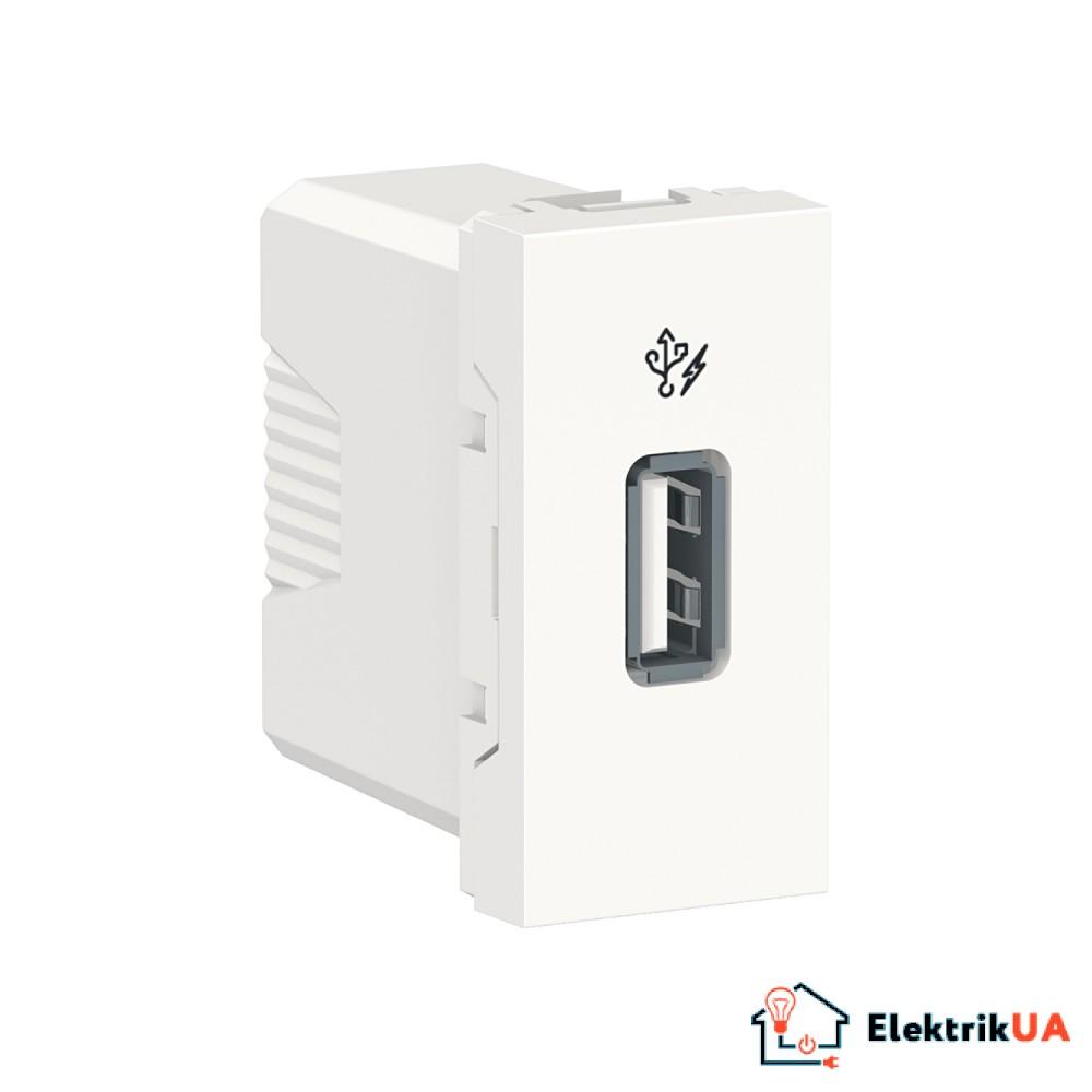 Розетка USB 1 модуль білий