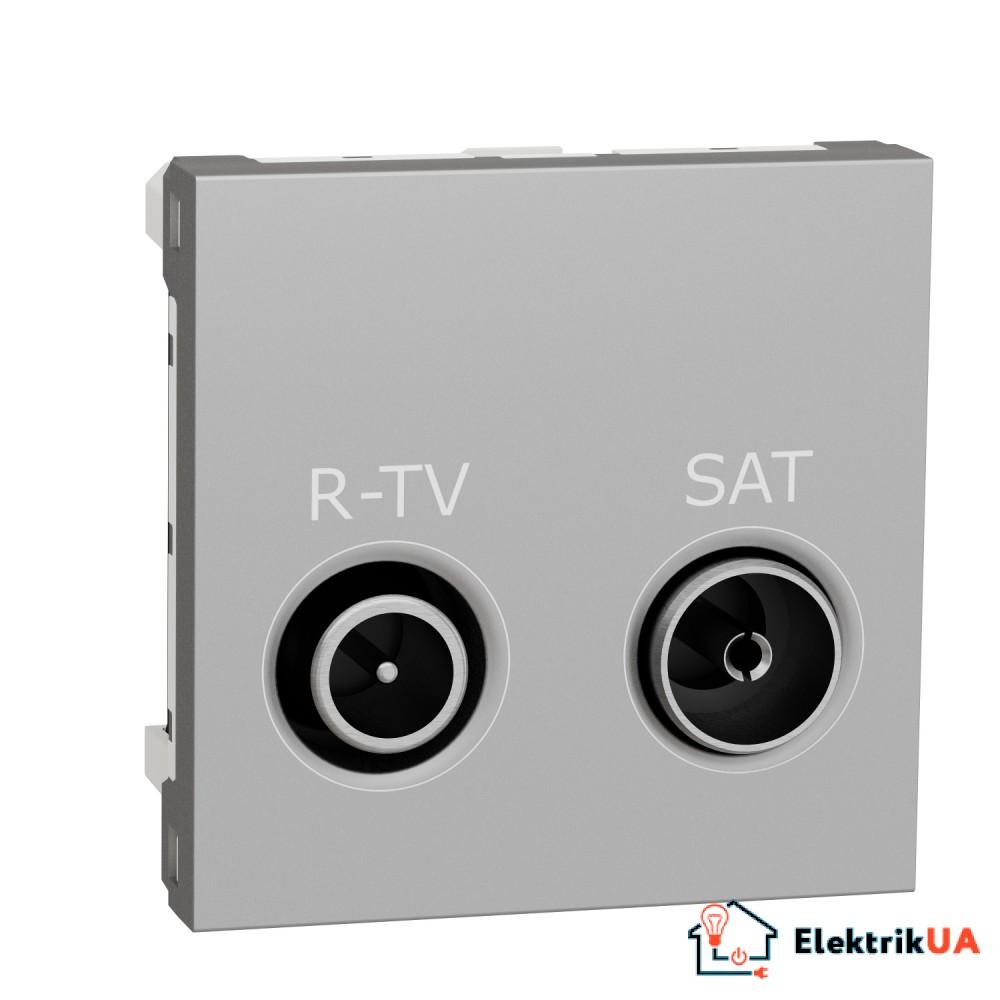 Розетка R-TV SAT одинарна, 2 модулі алюміній