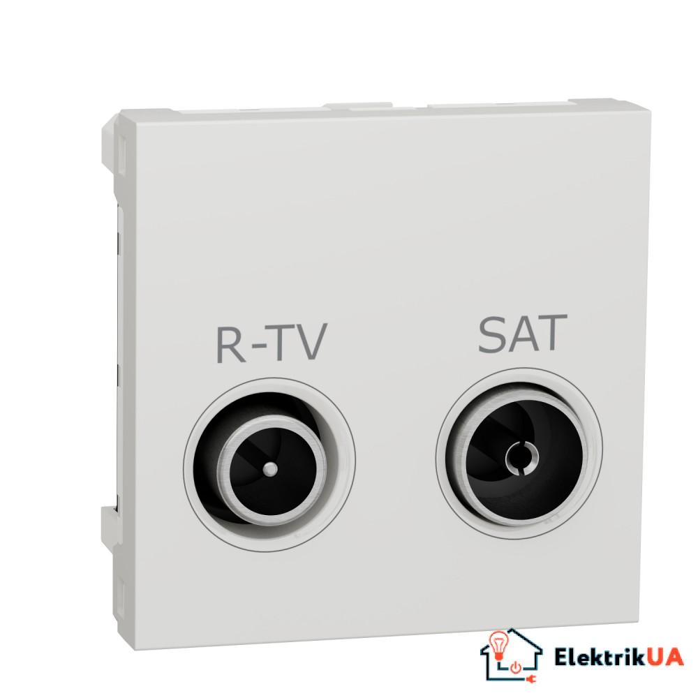 Розетка R-TV SAT кінцева, 2 модулі білий
