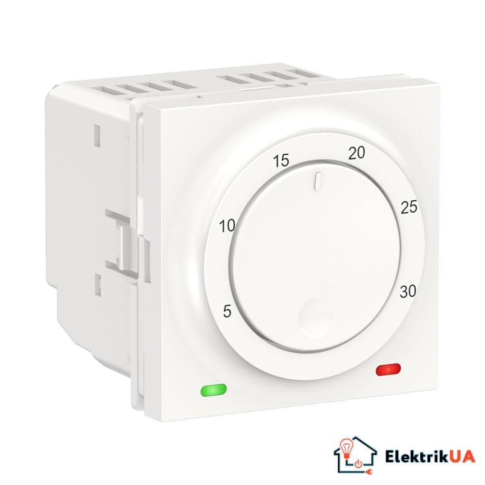 Термостат кімнатний, вбудованний датчик 8А білий