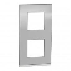 2 постова рамка вертикальна Unica Pure алюміній
