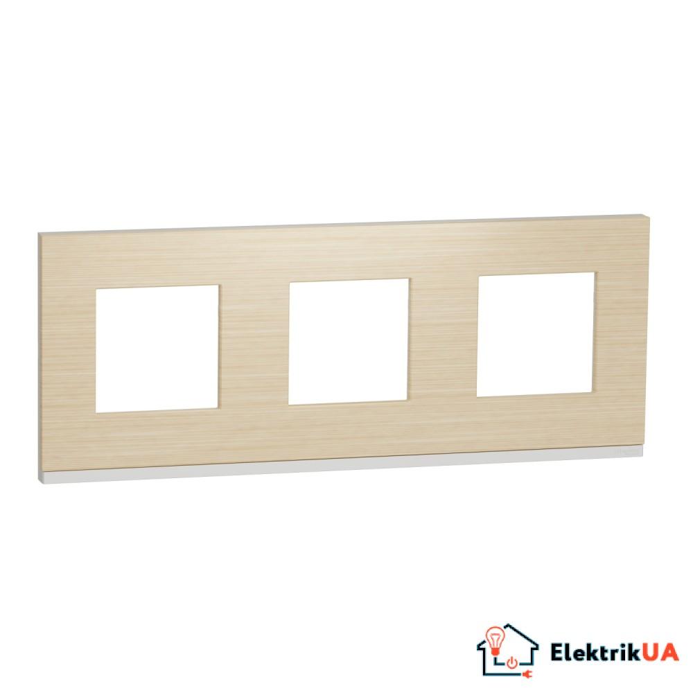 Рамка 3-постова, горизонтальна, Клен/білий