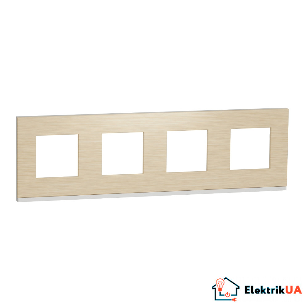 Рамка 4-постова, горизонтальна, Клен/білий