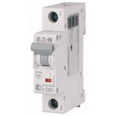Модульний автоматичний вимикач 1-полюсний C-характеристика 20-A - HL-C20/1