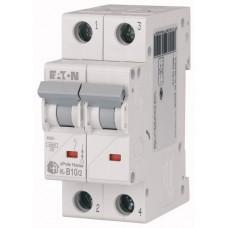 Модульний автоматичний вимикач 2-полюсний B-характеристика 10-A - HL-B10/2
