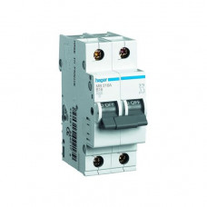Автоматический выключатель Hager In20 А, 2п, С, 6 kA, 2м (MC220A)