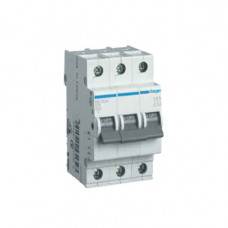 Автоматический выключатель Hager In32 А, 3п, В, 6 kA, 3м (MB332A)